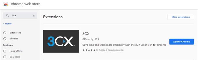 Google Chrome 3CX Extension 004