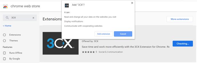 Google Chrome 3CX Extension 005