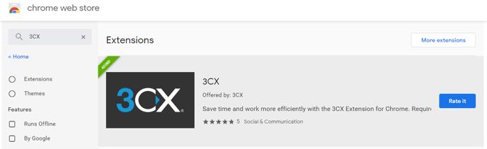 Google Chrome 3CX Extension 006